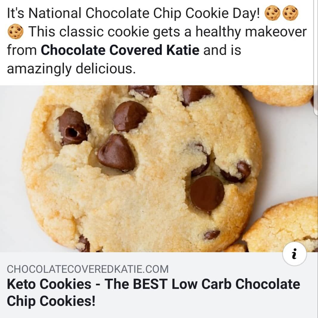 It S National Chocolate Chip Cookie Day This Classic Cookie Gets A Healthy Makeo Low Carb Chocolate Chip Cookies Classic Cookies Chocolate Chip Cookies
