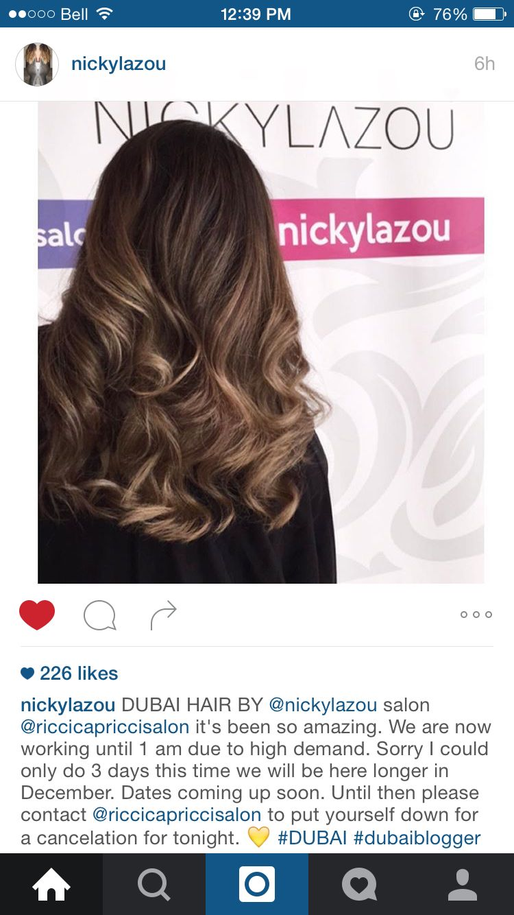 Nicky Lazou Amazing Hairstylist Love This Backstage Look Perfect For Fall Balayage Hair Lob Hairstyle Hair Styles