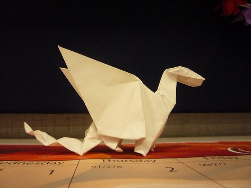 Oragami dragons. Test your level of concentration and patients