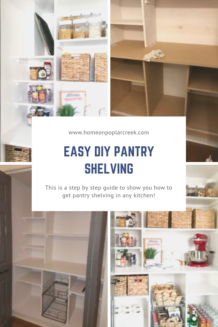 EASY DIY PANTRY SHELVING #pantryshelving This easy DIY project will be perfect for anyone who want's new pantry shelves in their kitchen. Check out the step by step guide will show you how to get pantry shelving in any kitchen! #pantryshelving EASY DIY PANTRY SHELVING #pantryshelving This easy DIY project will be perfect for anyone who want's new pantry shelves in their kitchen. Check out the step by step guide will show you how to get pantry shelving in any kitchen! #pantryshelving