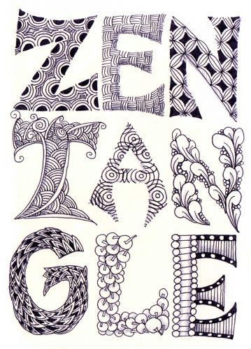 Zentangle Lettering Google Search Zentangle Patterns Zentangle Drawings Zentangle