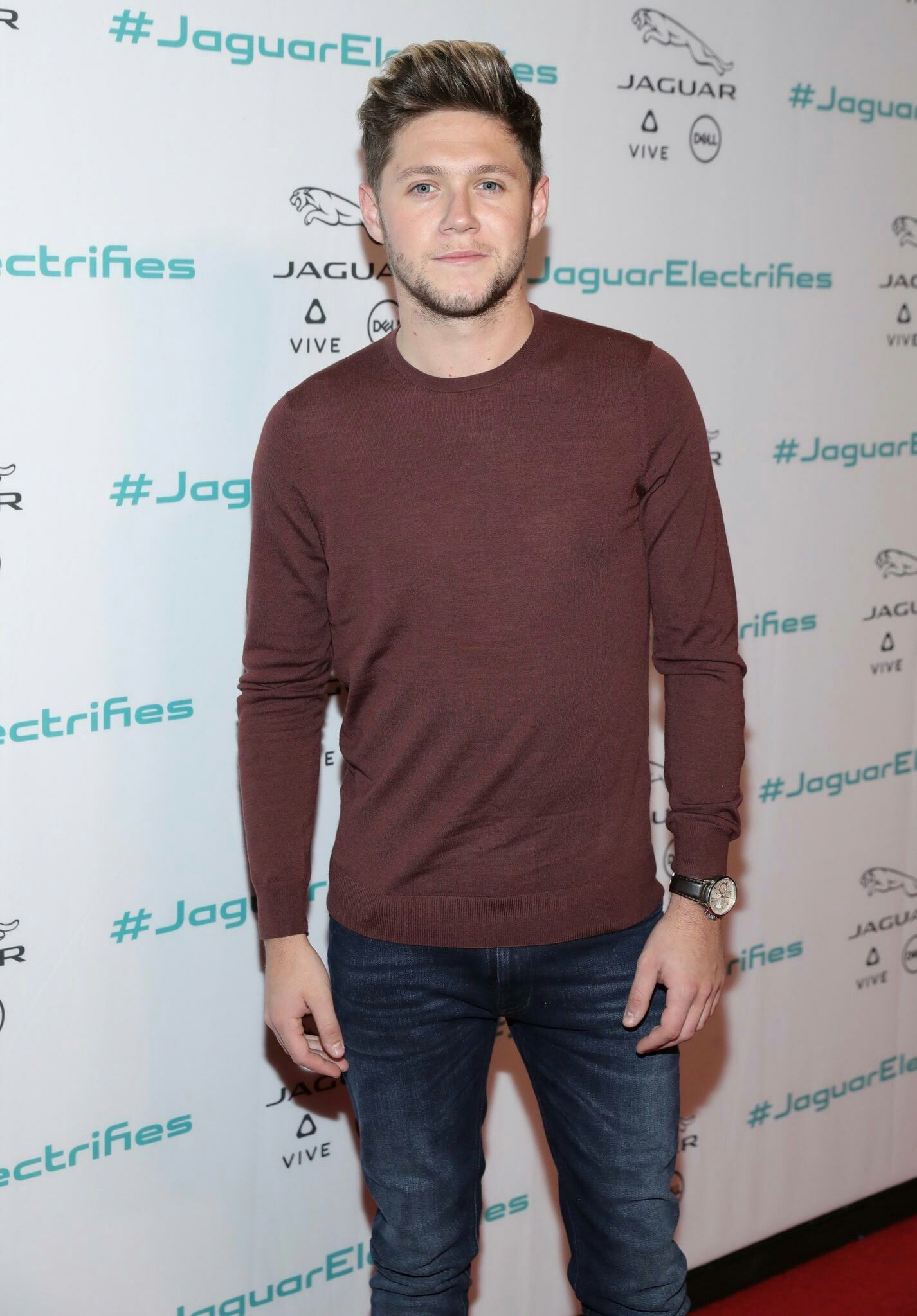 Niall Horan at the Jaguar Concept Reveal