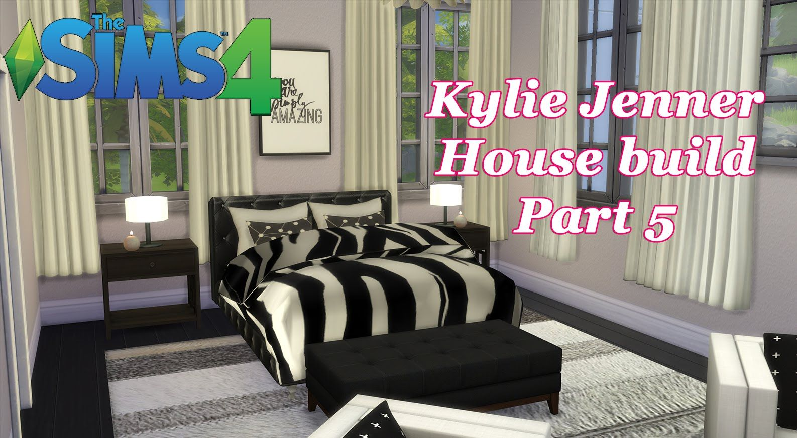 Sims 4 Schlafzimmer The Sims 4 Kylie Jenner House Build Cc Master Bedroom Part 5