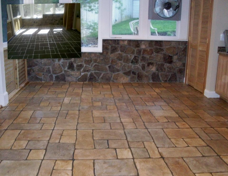 Concrete staining adds color to any stamped concrete projects.    #homeimprovement  #homeideas  #stampedconcrete  #concretestamping  #staining