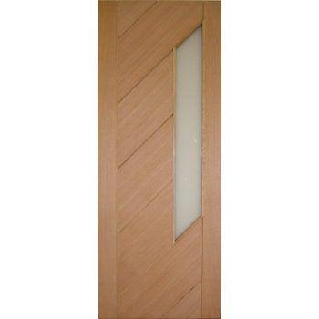 Doors Internal Doors Internal Oak Monza Obscure Glazed Door