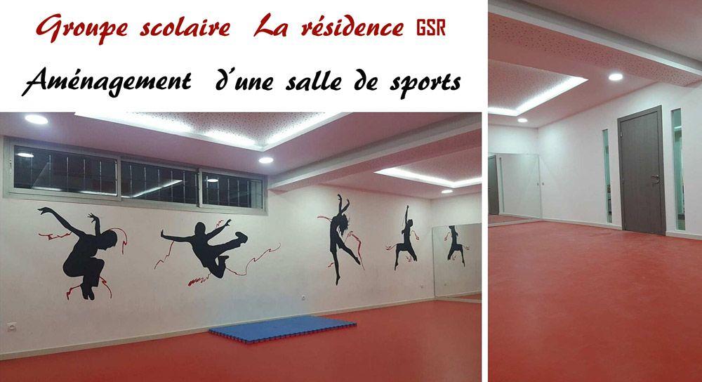 Aménagement Salle De Sport gsr groupe – aménagement salle de sports – cloisons – studio v14