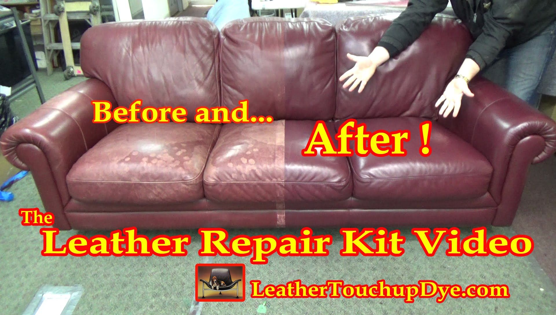 The Leather Repair Kit Video Leather Couch Repair Leather