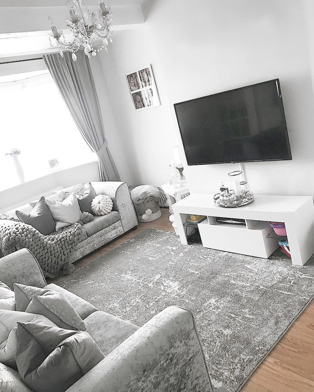 Have A Nice Day Everyone Livingroom Lounge Greydecor Homebargains Baywindow Tv Decor Home Living Room Living Room Decor Gray Living Room Decor Cozy