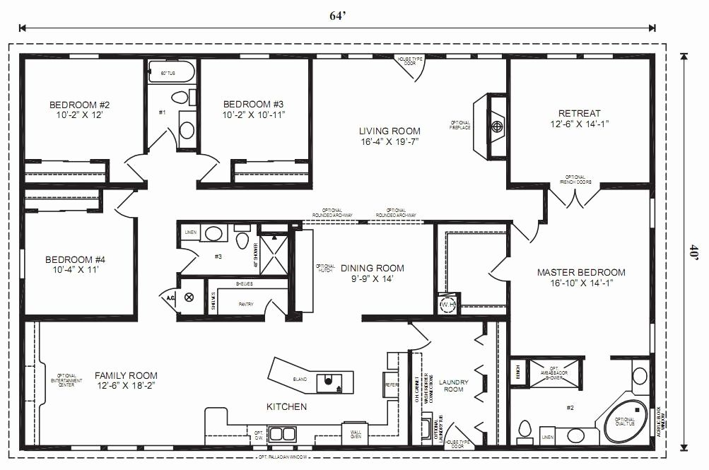 Trailer Home Floor Plans Covered Porch Plans for Mobile