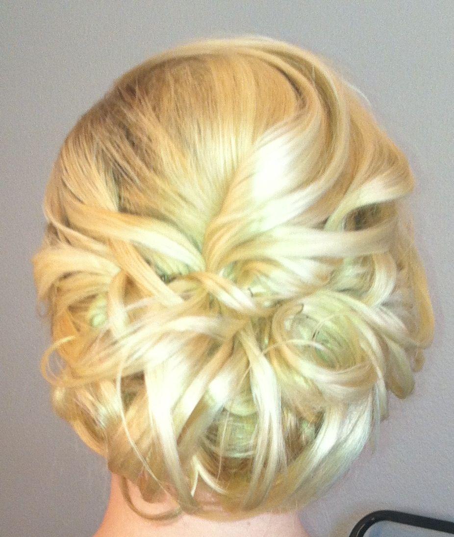 wedding blonde updo hair