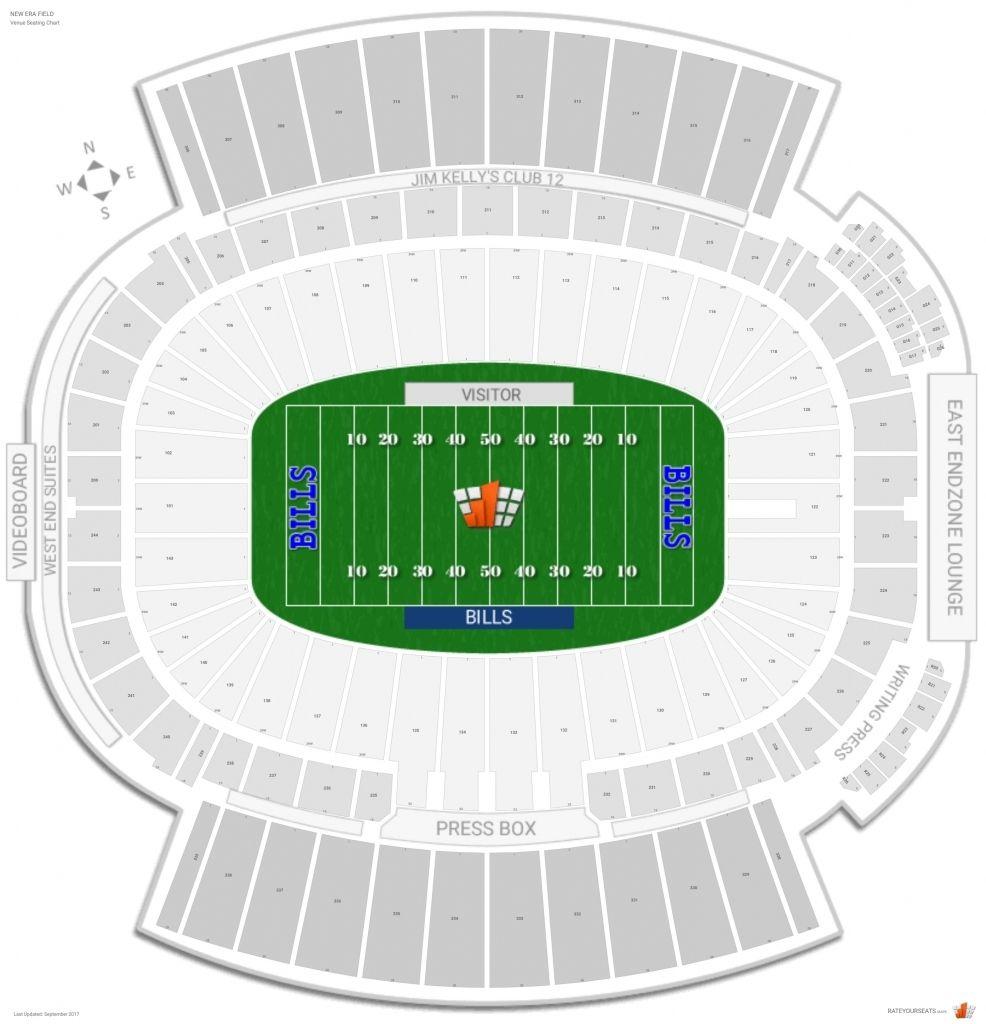 Ralph Wilson Stadium Seating Chart Di 2020