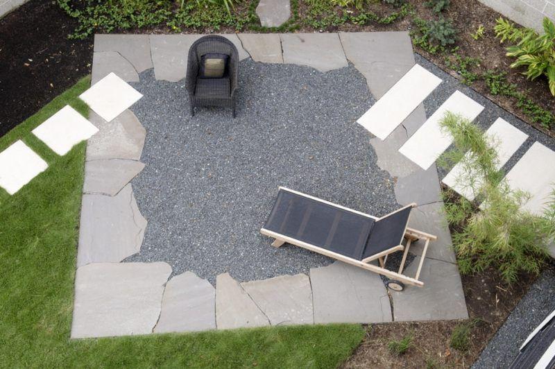 moderner garten mit kies und naturstein angelegt | terrasse, Garten und erstellen