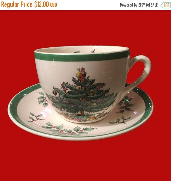 ON SALE - Spode Christmas Tree Cup and Saucer - 9 Available Shop