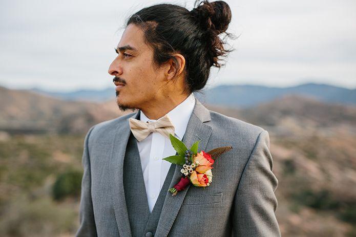 Vasquez rocks wedding photo shoot groom grey suit with white dress ...