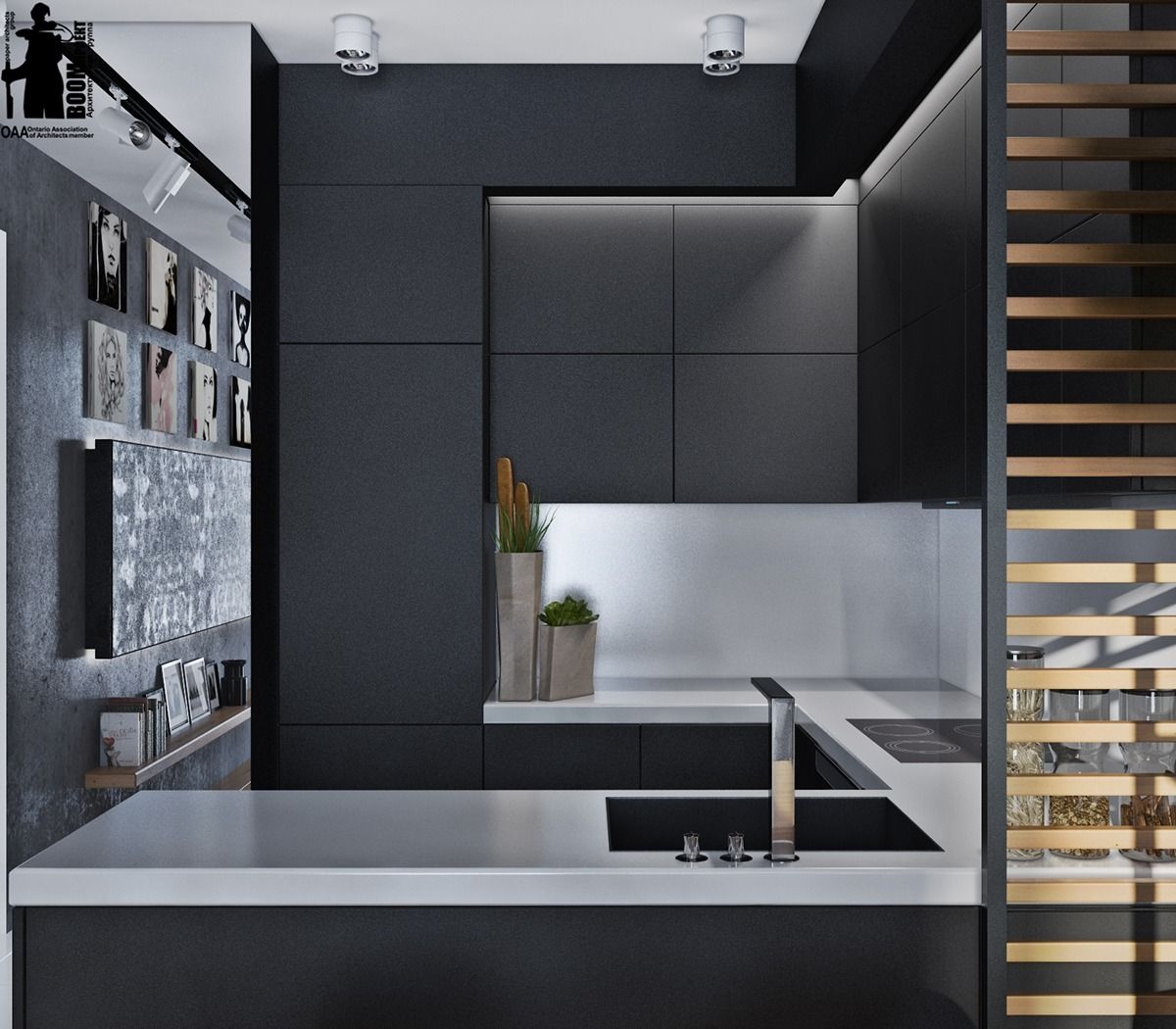 Whoever Said That Homes Decorated Exclusively In Black And White Beauteous White And Black Kitchens Design Decorating Design