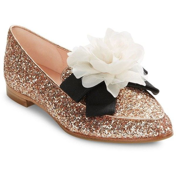 Kate Spade New York Sequin Pointed-Toe Loafers