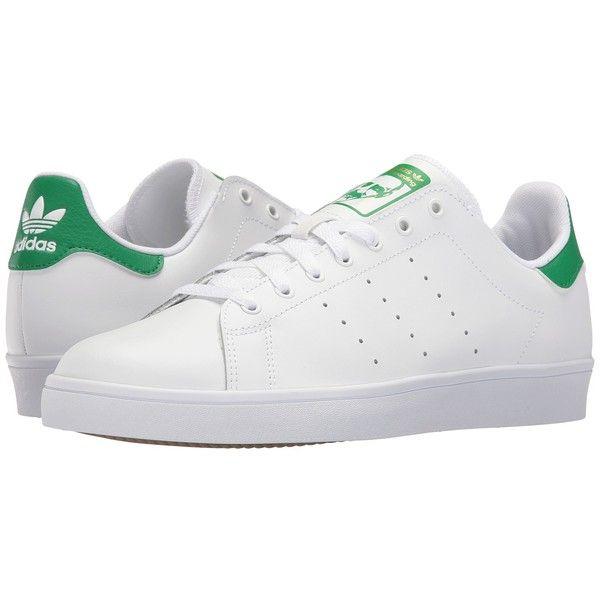 outlet store feeb2 e7c09 adidas Skateboarding Stan Smith (White/White/Green) Skate ...