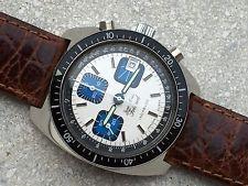 Montre chronographe mécanique ancien années 70 valjoux 7768 vintage état neuf