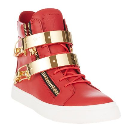 a64ffbf2bec11 Giuseppe Zanotti Double-Buckle High-Top Sneakers at Barneys.com ...