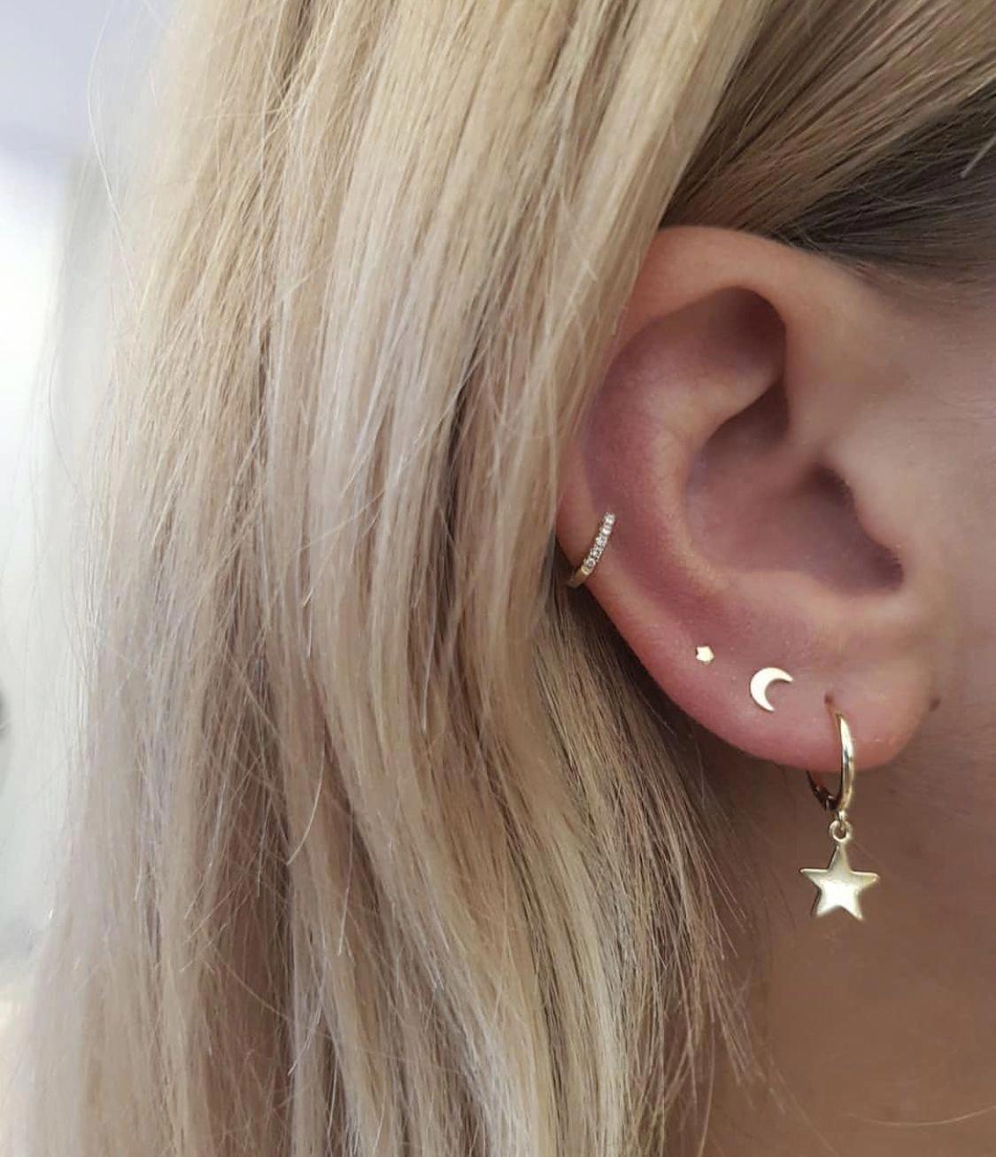1x Piece of Sterling Silver Dainty Wishbone Post Stud Earring