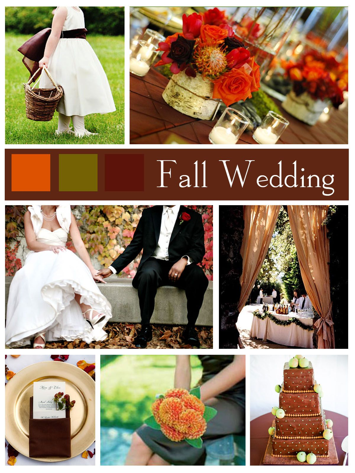 fall wedding flowers - Fall Colors For A Wedding
