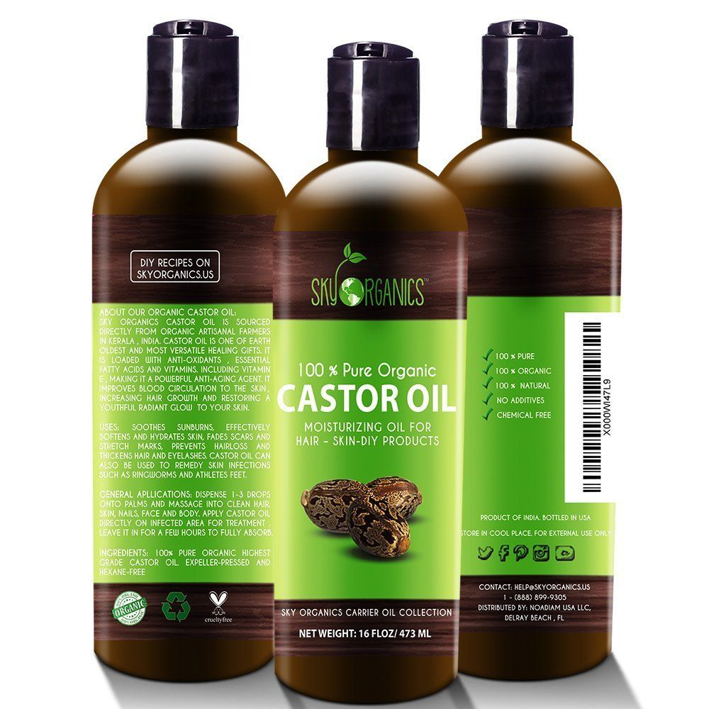 Castor Oil is known for its ability to strengthen thin hair, promote hair growth, and prevent hair loss.