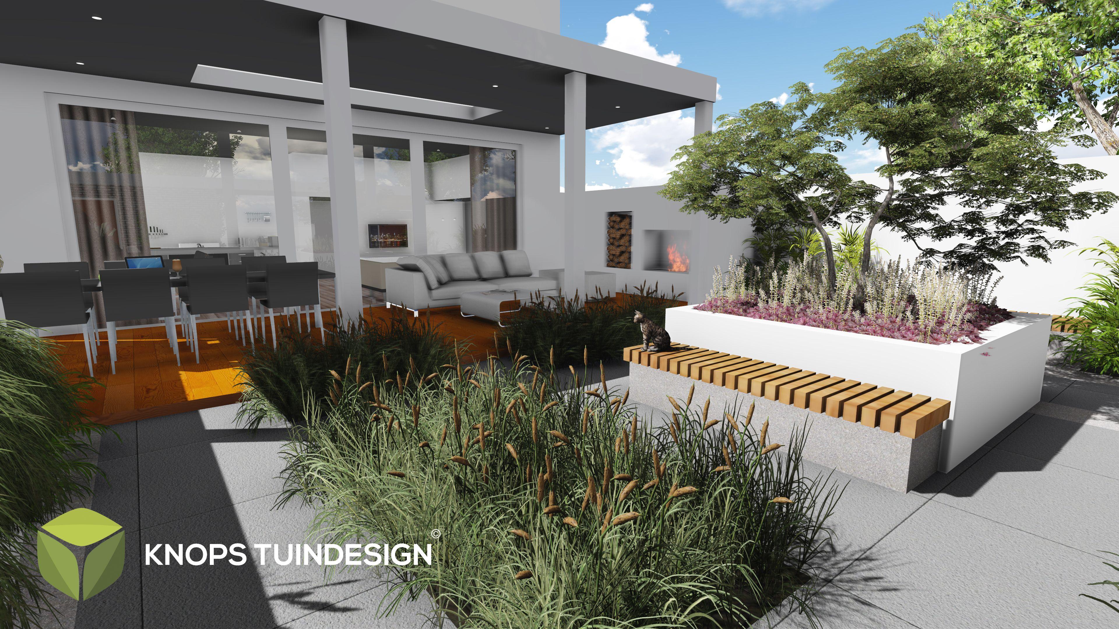 Stadstuin modern tuinarchitect knops tuindesign erik knops for Tuinontwerp stadstuin