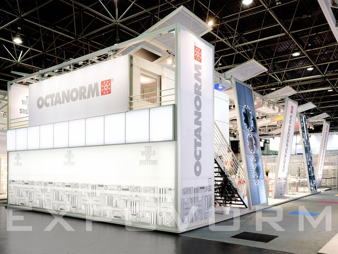 Exhibition Stand Raised Floor : Octanorm booth exhibition design douple floor expovorm