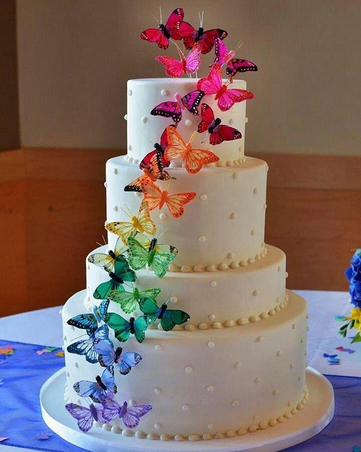 70 fotos de bolo de casamento simples que são pura doçura
