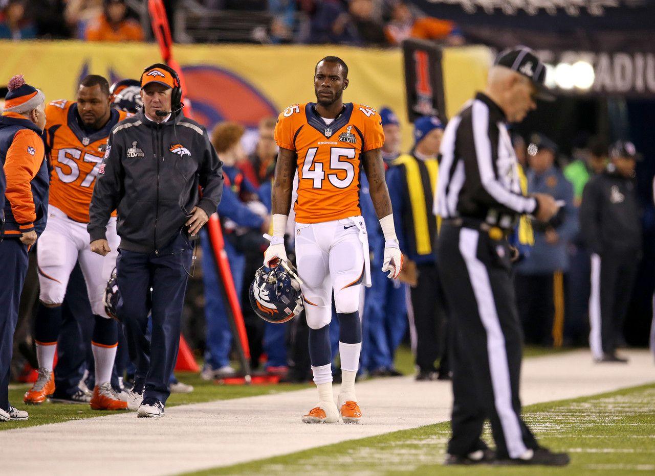 Denver Broncos cornerback Dominique Rodgers Cromartie 45 is seen