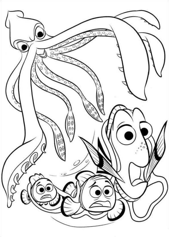 squid coloring page preschool # 34