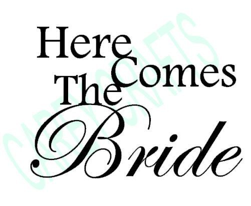 Here Comes The Bride DIY Vinyl Decalsticker To Make Flower Girl - How to make vinyl decals