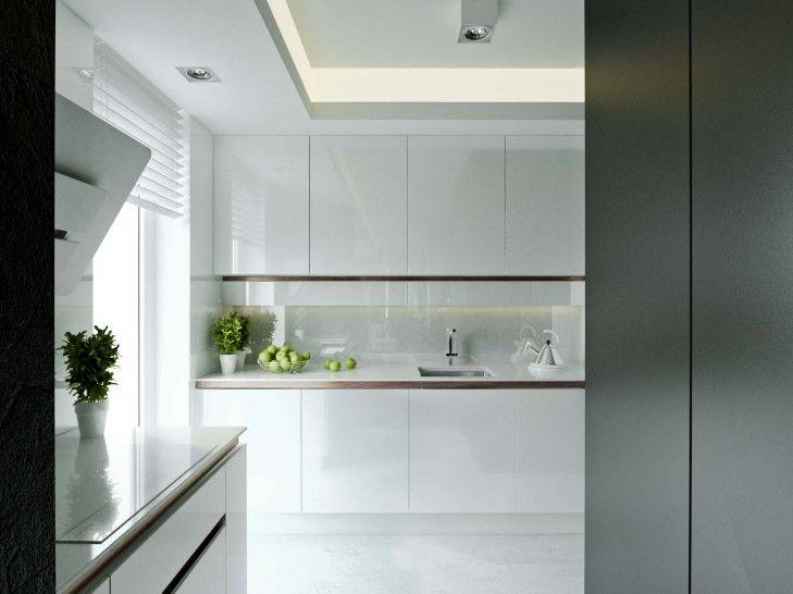 Minimalistyczna Kuchnia W Mieszkaniu Z Rockowym Pazurem Tissu Home Decor Kitchen Cabinets Decor