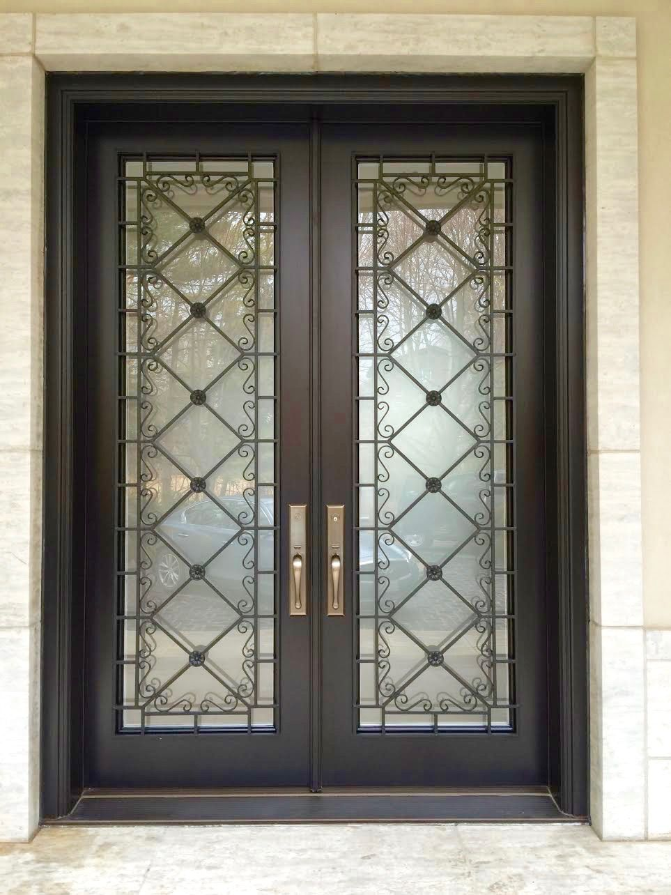 This Stunning Amberwood Custom Mahogany Double Entry Door Features Baldwin Hardware Externalw Exterior Door Hardware Unique Front Doors Front Door Handles