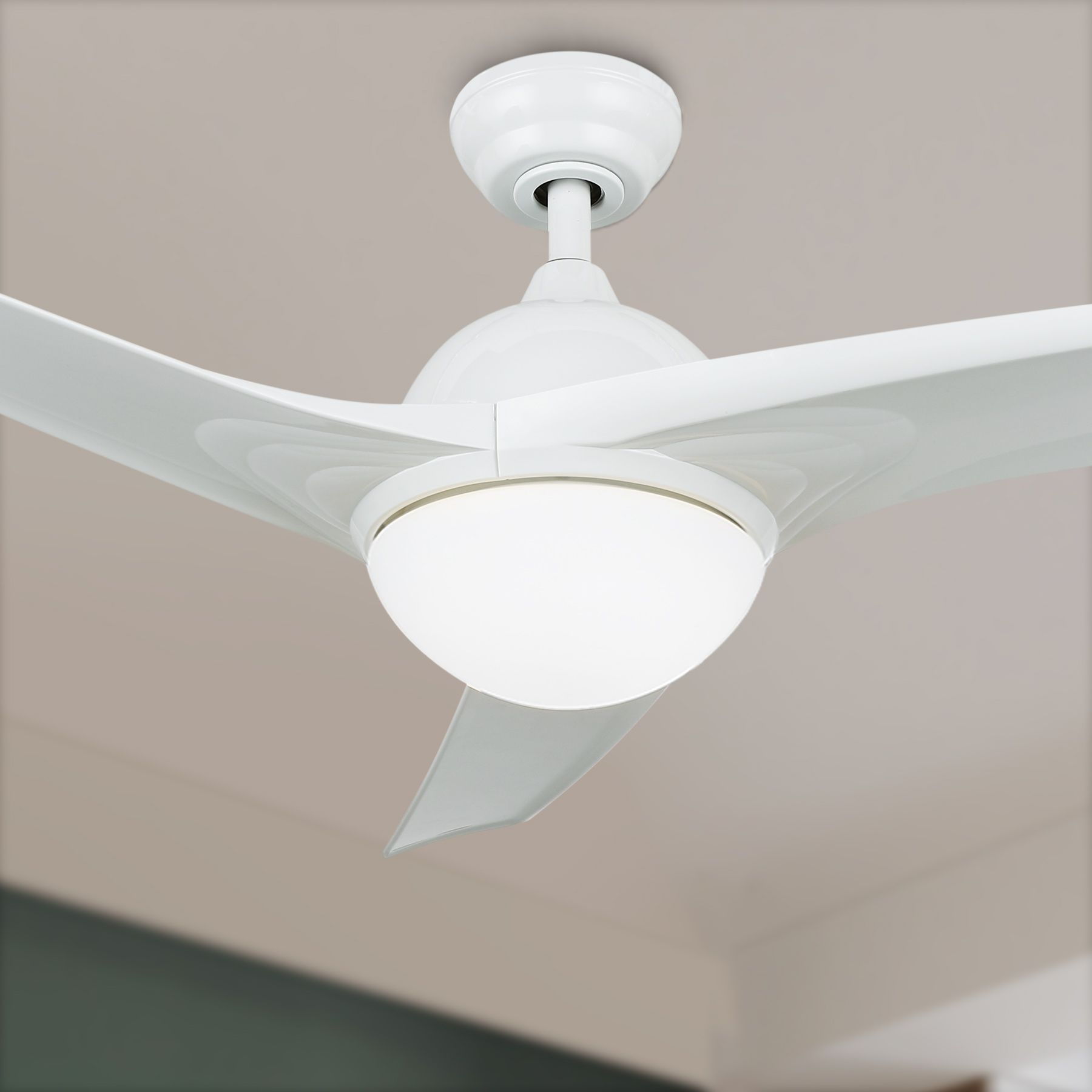 52 Contemporary Ceiling Fan With Led Panel Light Remote White Finish W 3 Blades Walmart Com In 2021 Led Panel Light Contemporary Ceiling Fans Ceiling Fan