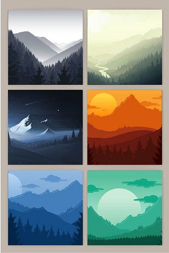 Distant mountain landscape background vector | PNG Images AI Free Download - Pikbest