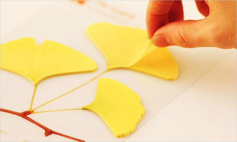Leaf-it: Sticky Note Pad (Ginkgo Leaf) – Hey Eonni