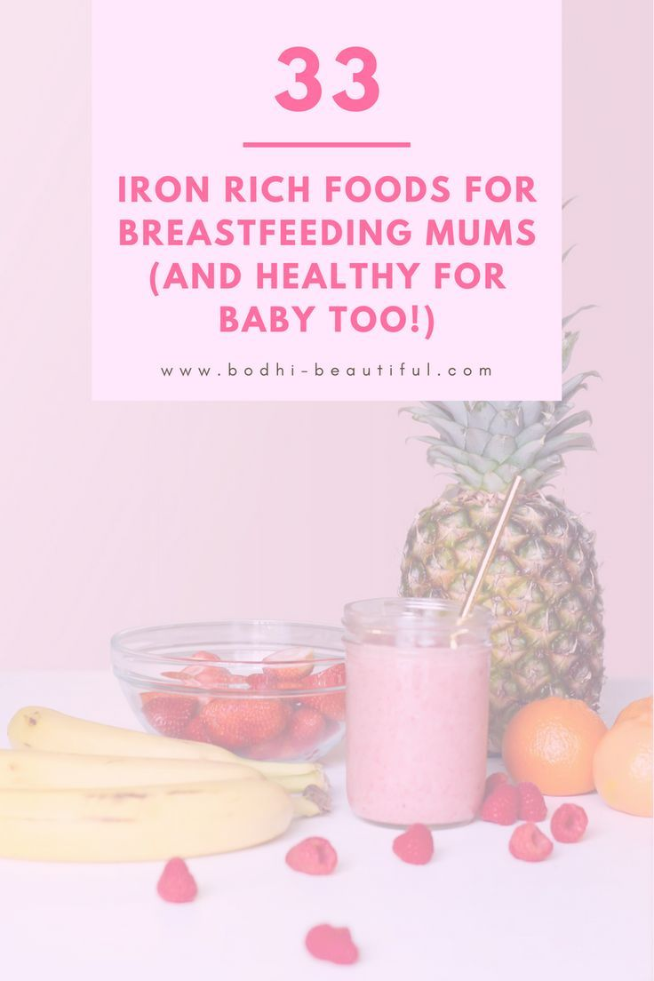 33 iron rich foods for breastfeeding mums and healthy for