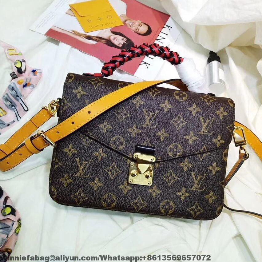 f385b1e66 Louis Vuitton Braided Handle Monogram Canvas Pochette Metis Bag M43984  F/W2018