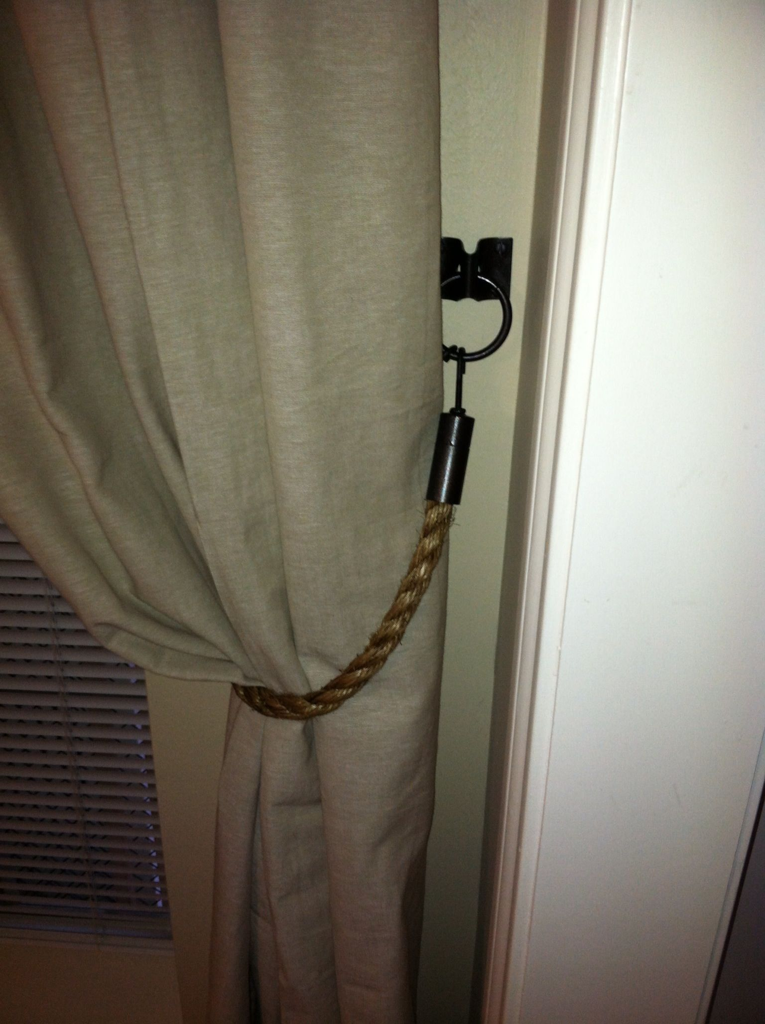 curtain tie backs diy rope curtain tie backs with hardware for the home 11873