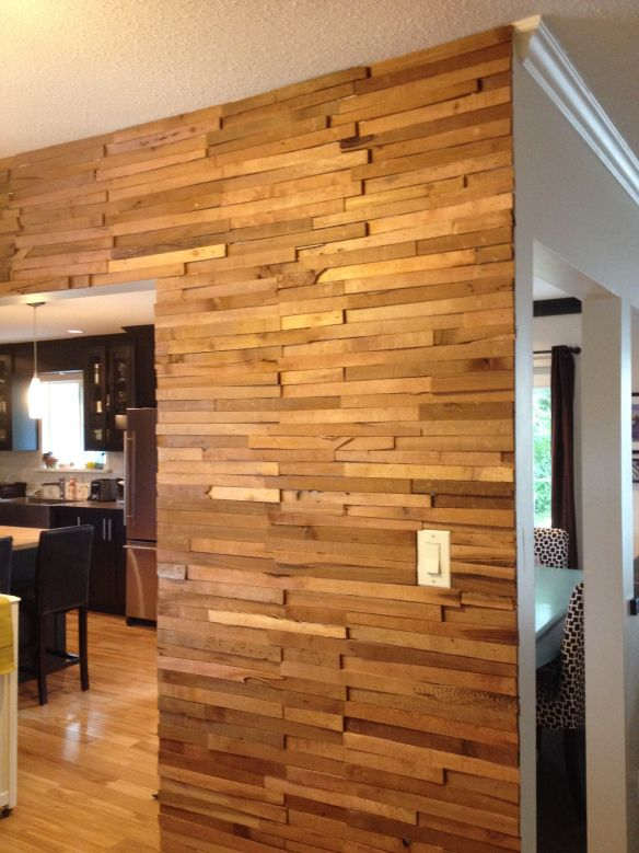 White Washed Reclaimed Wood Wall