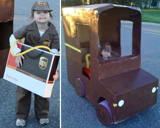 UPS Costume Idea & Truck. One of My favorite people!