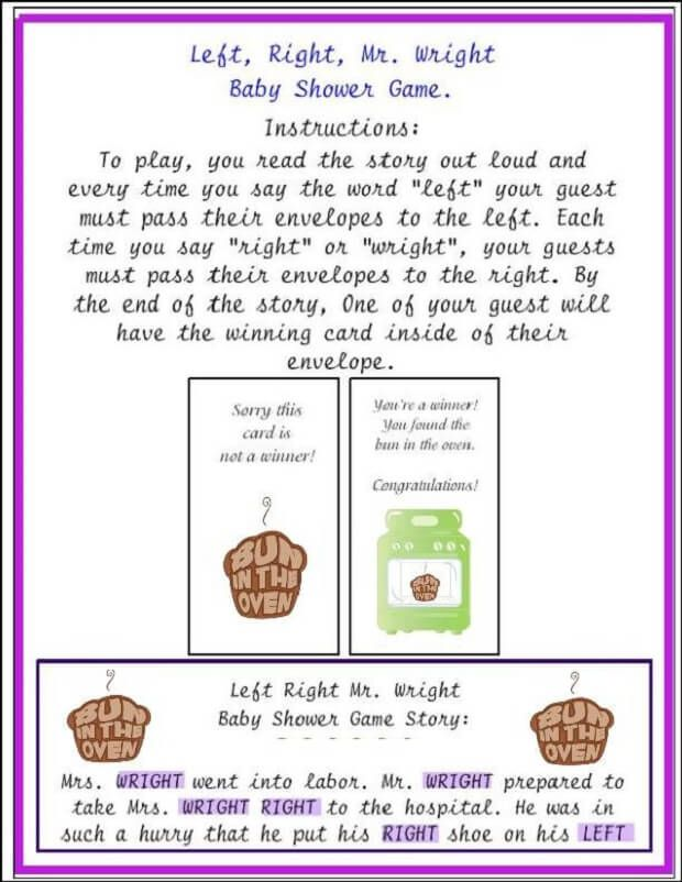 Mrs Wright Baby Shower Game Party Ideas Pinterest Baby Shower