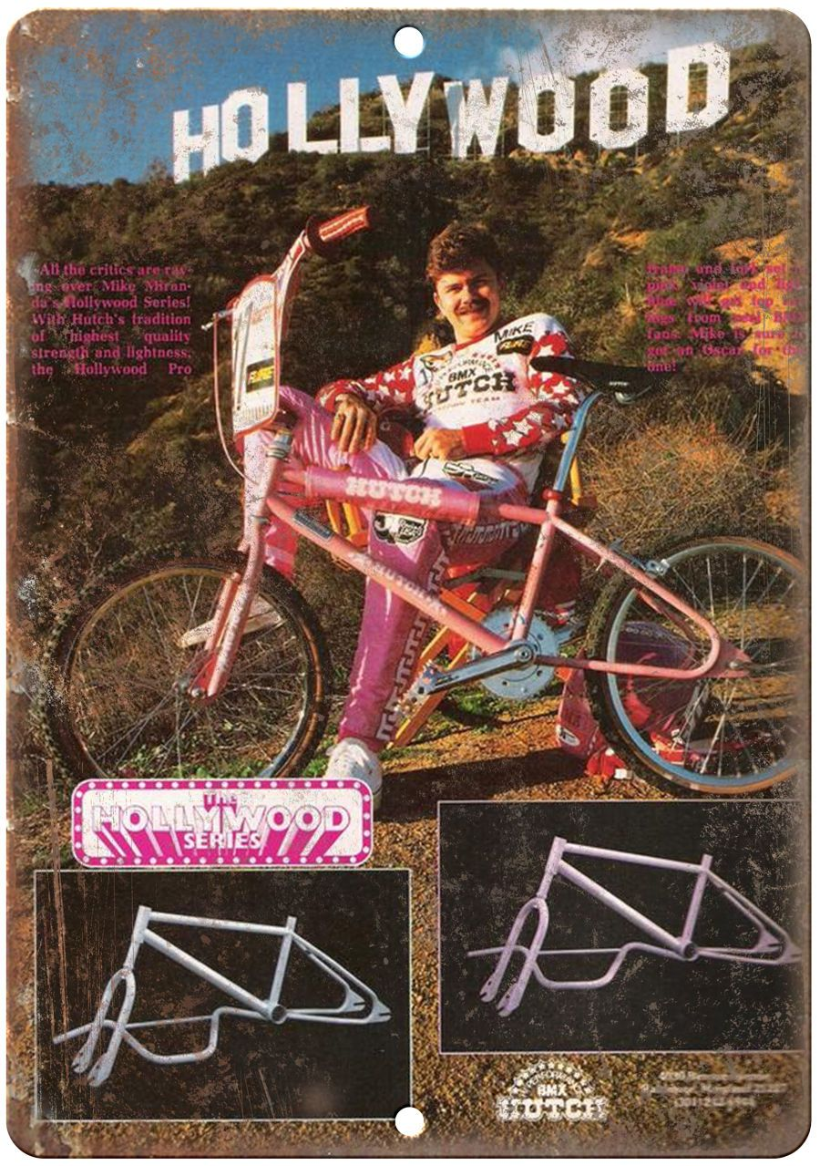 """Hutch BMX Hollywood Series 10"""" x 7' reproduction metal sign"""