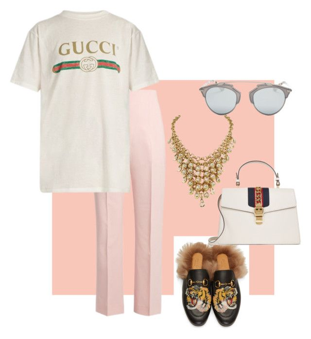 SPRING VIBES- MIYAHS LOOKS by stylistmiyah on Polyvore featuring Gucci, Altuzarra and Christian Dior