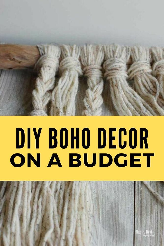 DIY Boho Chic Wall Hanging Decor Tutorial