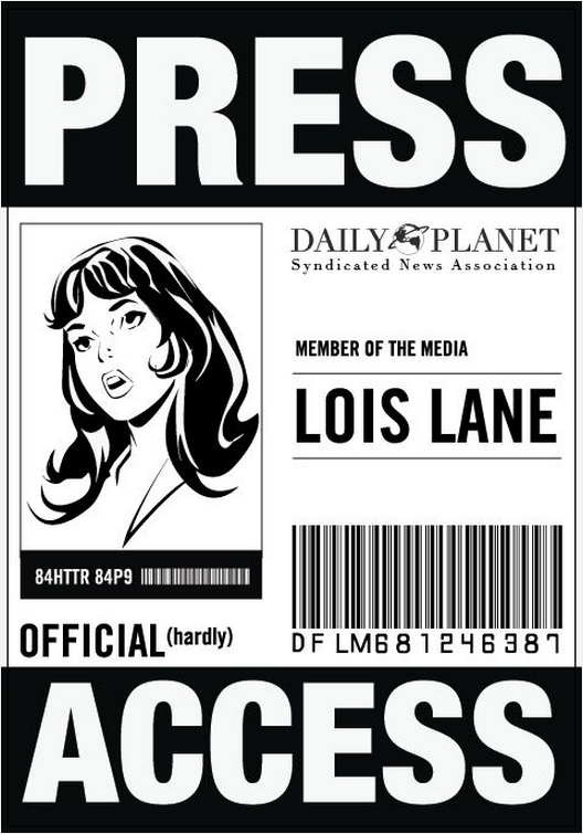 image relating to Lois Lane Press Pass Printable identified as Drive badge Lois Lane Clark Kent/Superman Halloween