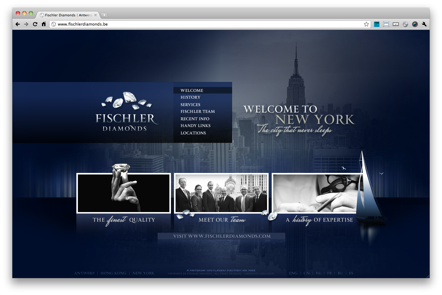 Fischler Diamonds In New York Antwerp And Hong Kong Http Www Fischlerdiamonds Be Web Grid Cr Web Design Web Design User Interface User Interface Design