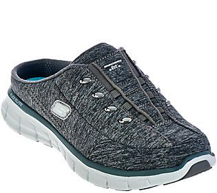 Skechers Heathered Jersey Bungee Mules Synergy Mules Heathered