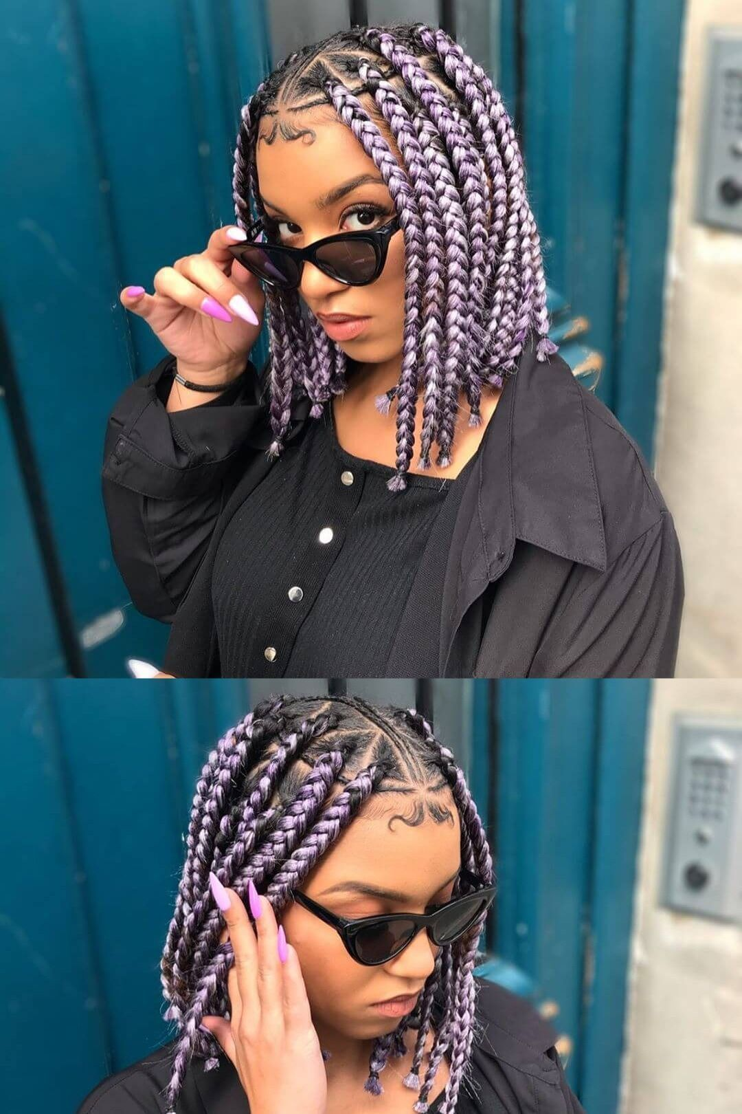 we have found +25 fulani braided hairstyle ponytails for black hair to try on the weekend for your natural black hair. # fulani Braids ponytail +25 Fulani braided hairstyle ponytails For Black Hair for the weekend # fulani Braids ponytail
